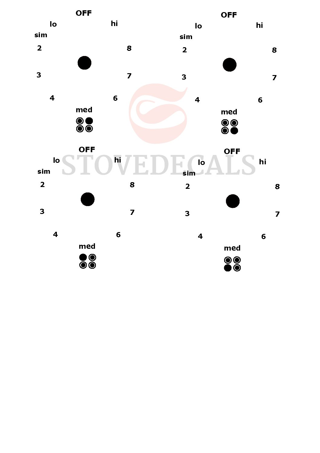 Frigidaire Stove Decals for Replacing Worn Off Frigidaire Stove Labels